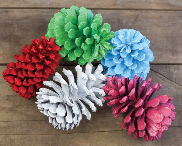 Painted pinecone craft project for How to paint pine cones for christmas