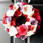 Created by:Andrea C.  Inspired by:Yarn Wreath with Felt Flowers, Christmas 2011
