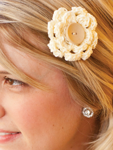Wear your flower clip as a hair pin...