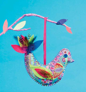 """This """"Exotic Bird of Paradise"""" is one of the many easy-to-make projects you can find in Sewing for Kids."""